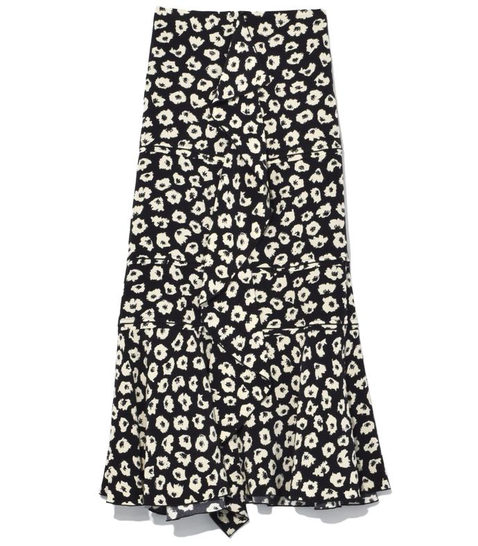 black/off white ruffle skirt