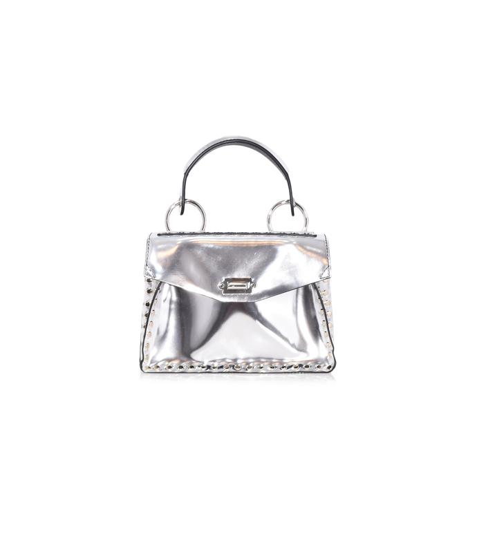 silver small hava top handle bag