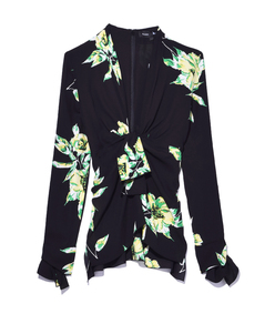 black & green 'lily' top
