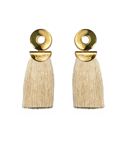 champagne go-go crater earrings