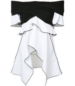 black & white asymmetrical top