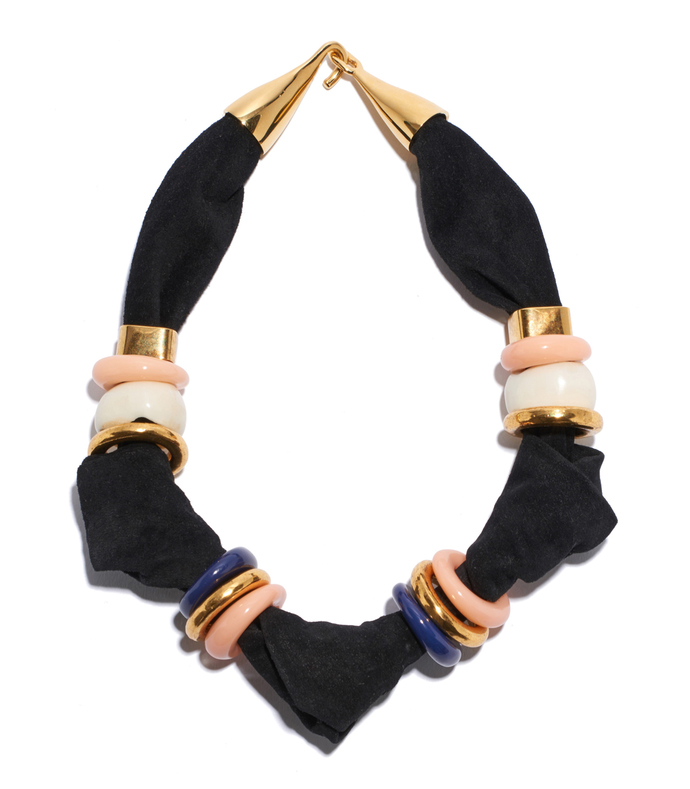 black 'surrealist' collar necklace