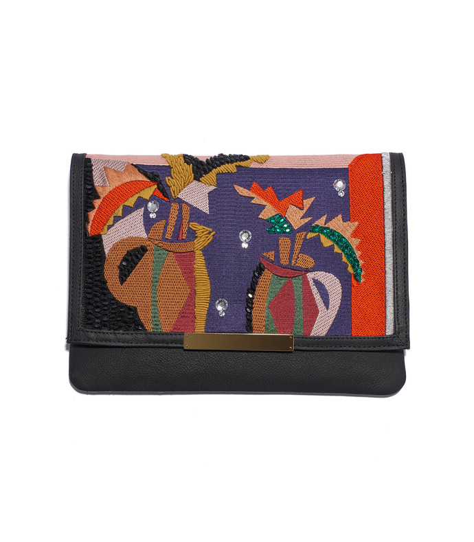 'cubist vase port of call' clutch
