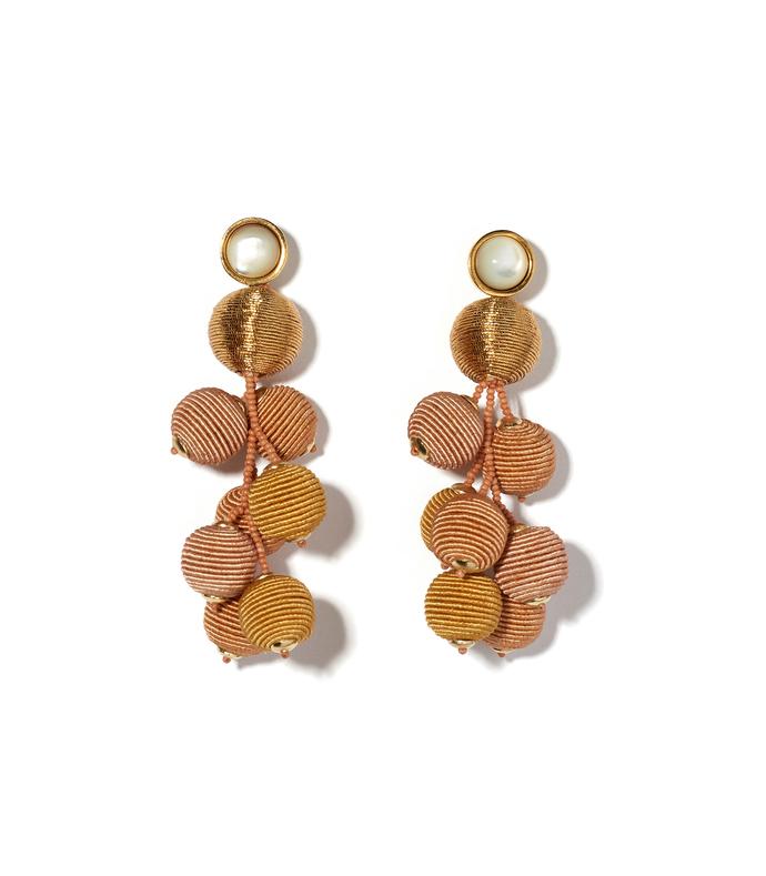 gold meteor earrings