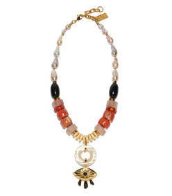 multicolor capri necklace