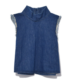 indigo cropped una top