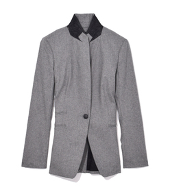 grey heather duke blazer