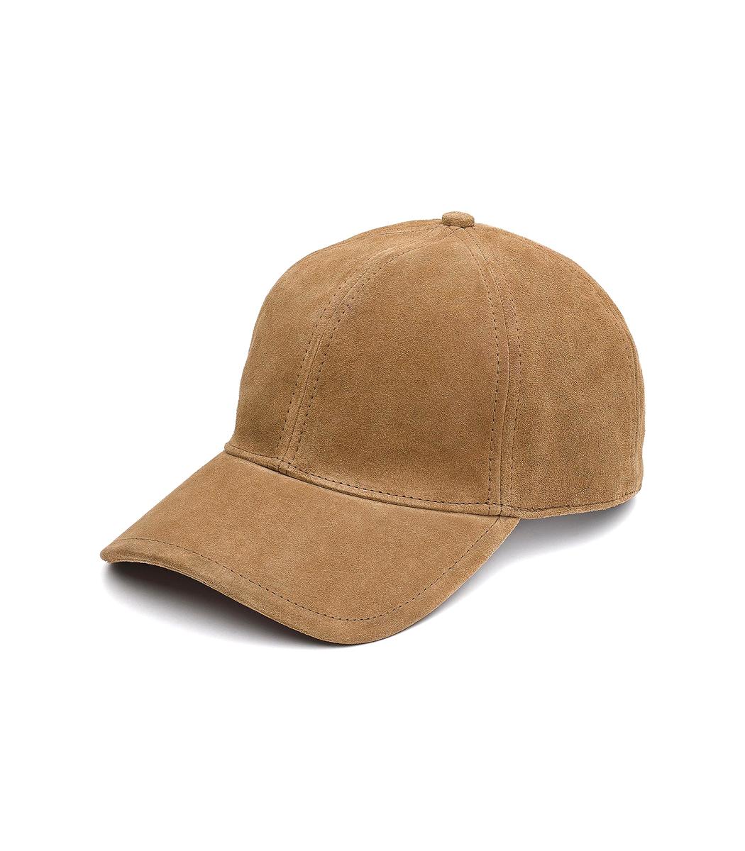 Marilyn Suede Baseball Cap - Brown, Camel