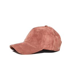 moderate pink mauve suede marilyn baseball cap