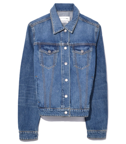 nico jacket in worn indigo