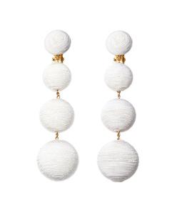 ShopBazaar Rebecca de Ravenel White 'Les Bonbons' Earrings MAIN