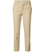 brown beige straight cropped pants
