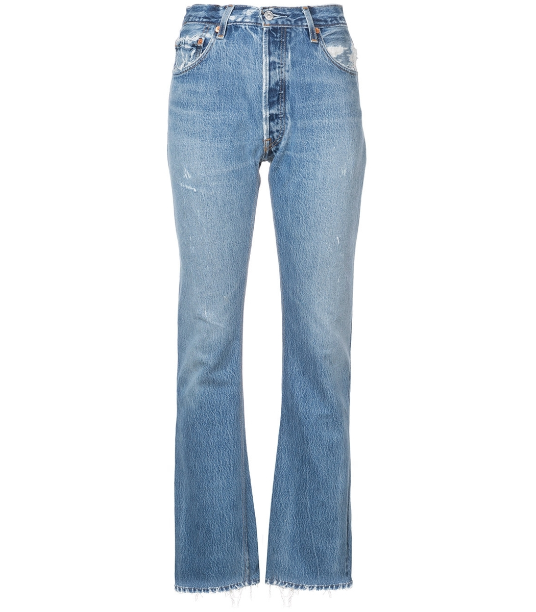 DONE Blue High-Rise Bootcut Jeans