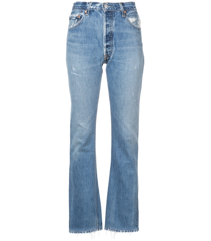 Blue High-Rise Bootcut Jeans RE37P34-LB-28