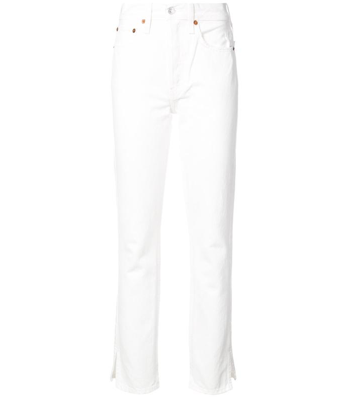 Straight-Leg Jeans RE37PHR-WHT-24