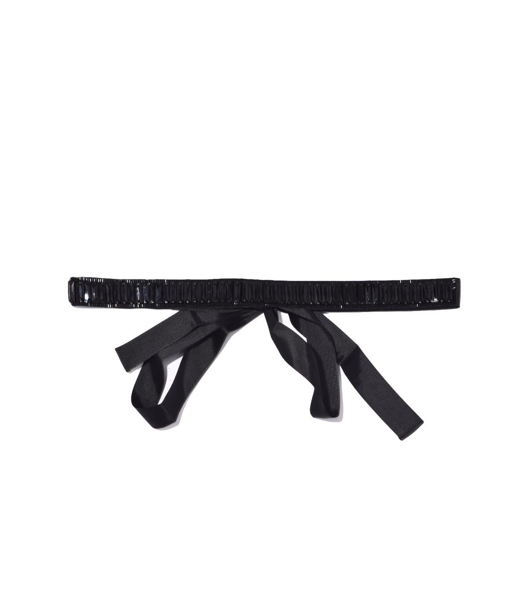 Black Nero Crystal Embellished Belt