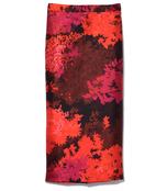 medium red lavender pencil skirt