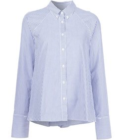 blue & white stripe shirt