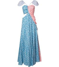 bi-color shoulder caps dress