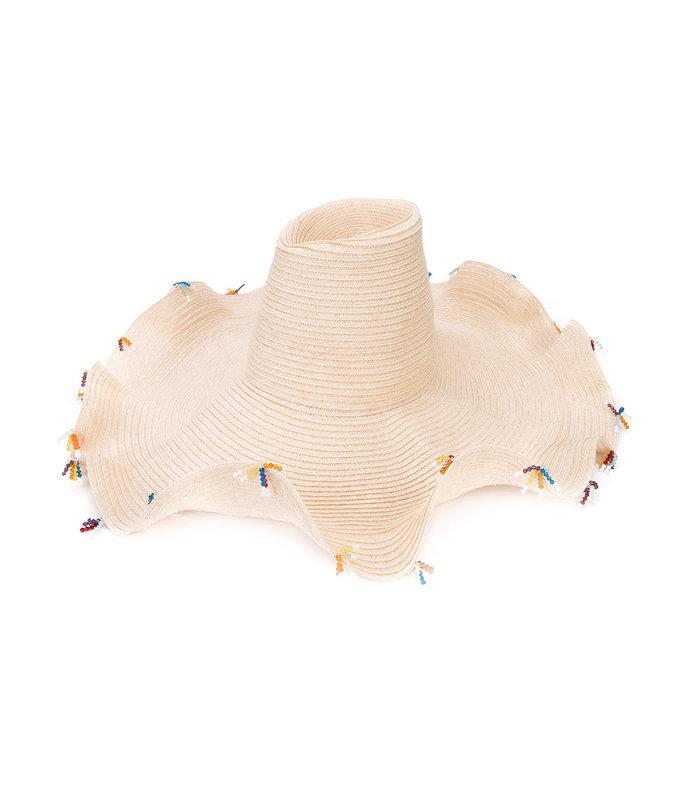 natural 'swarovski' brim hat