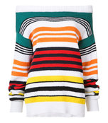 multicolor striped sweater