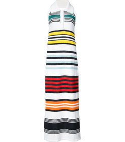 multicolor striped halter dress