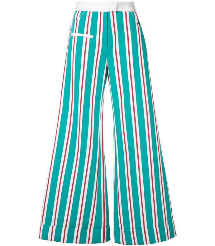 multicolor striped ribbon pant