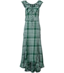crinkle plaid dress