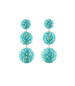 teal 'lara' earrings