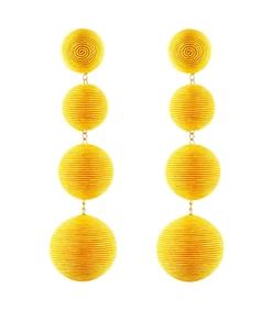 yellow les bonbons earrings