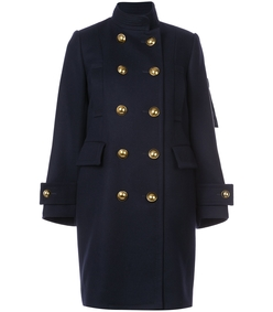 navy peacoat with inner vest