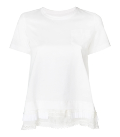 white tiered hem t-shirt