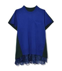 blue & dark green knit pullover