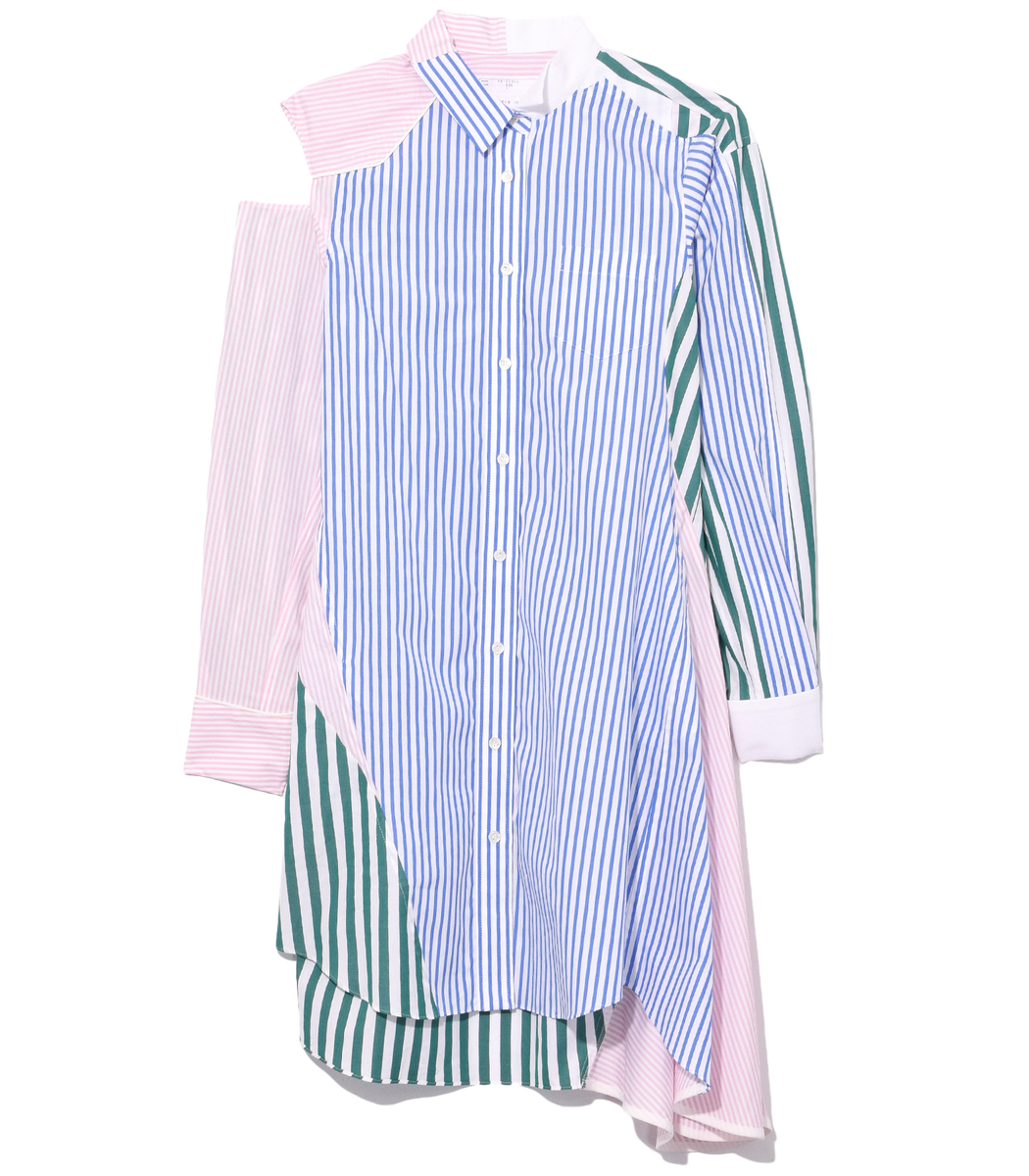 Sacai  Multicolor Shirting Stripe Dress