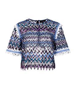 multicolor open back t-shirt