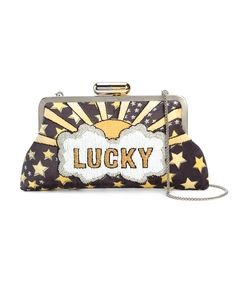 multicolor lucky clutch bag