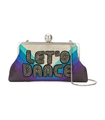 multicolor let,s dance clutch bag