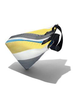 yellow & turquoise  'le sac' tote