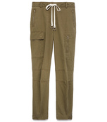 washed cotton twill cargo pant