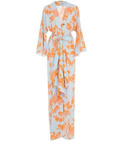 m'o exclusive signature crepe de chine kimono