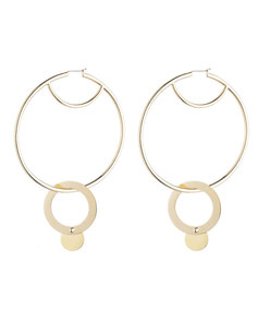 gold nubia hoop earrings