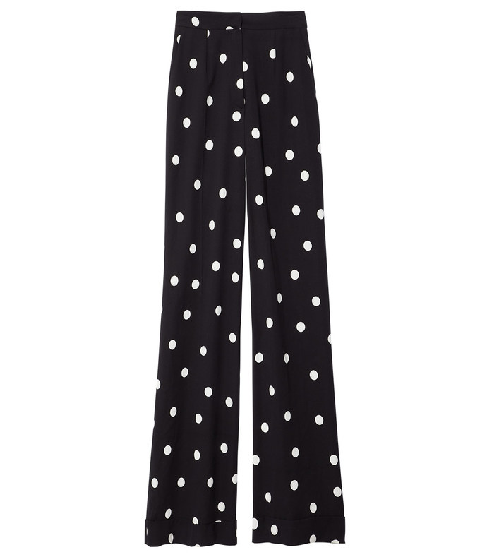 black & white polka dot pant