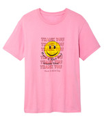 pink 'thank you' graphic t-shirt