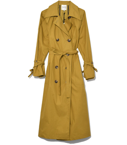 classic throw back trench in tobacco