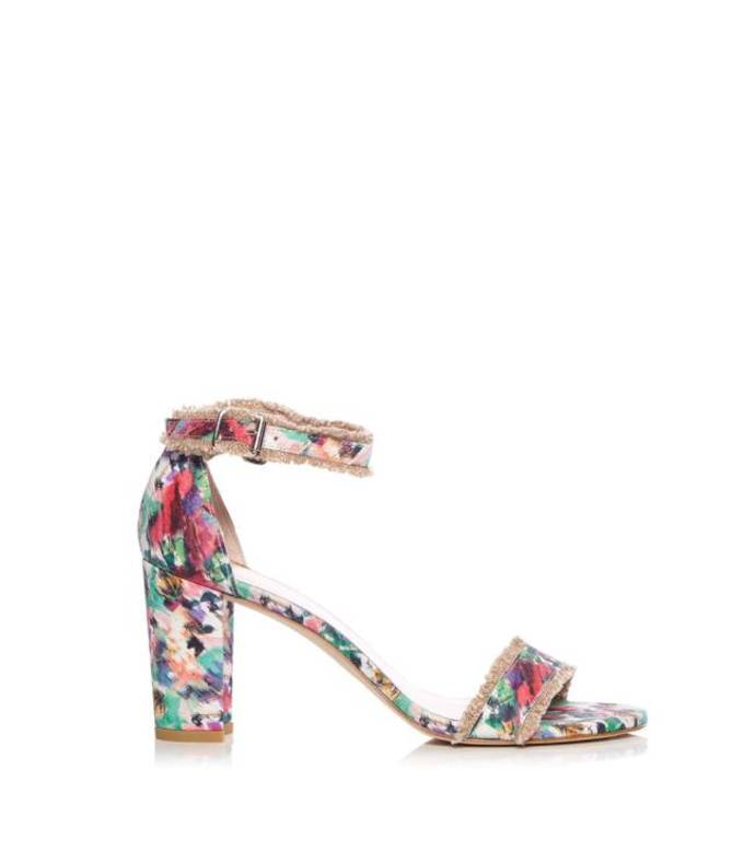 multicolor floral sandal