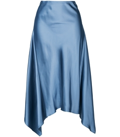 grey satin twist skirt