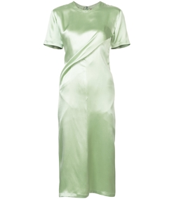 green waverly twist dress