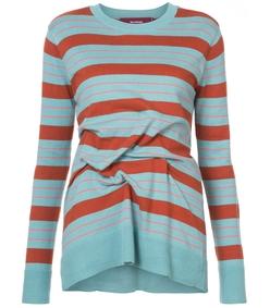 multicolor striped pintuck sweater