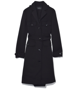 black belted fitted coat