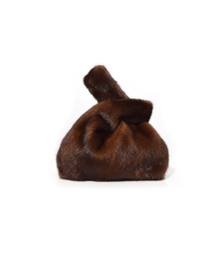 furrissima mink bag in brown